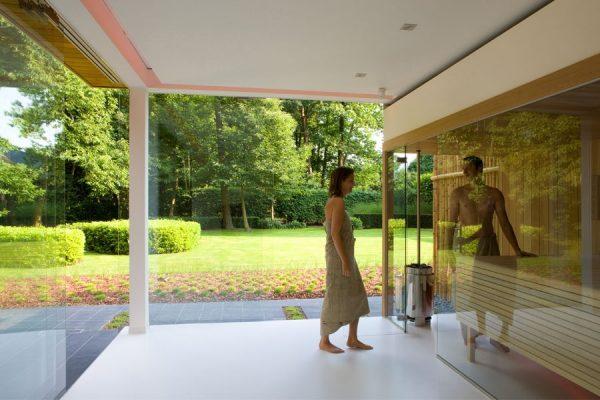 Kom geheel tot rust in je privé sauna tussen het groen